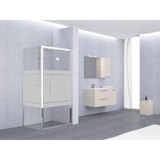 porte de douche pliante 78 84 cm profil chrom elyt leroy merlin. Black Bedroom Furniture Sets. Home Design Ideas