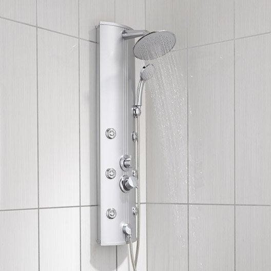 Colonne de douche hydromassante avec robinetterie gris tuina leroy merlin Solde colonne de douche