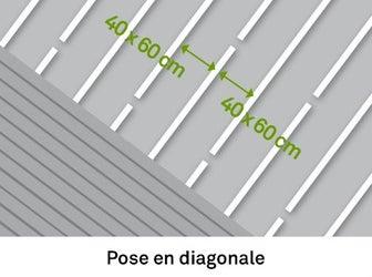 La menuiserie en parois int rieures partie 1 leroy merlin for Pose du carrelage en diagonale