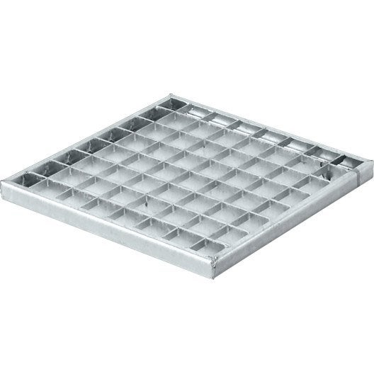 grille caillebotis acier galvanis 27x27 cm leroy merlin. Black Bedroom Furniture Sets. Home Design Ideas