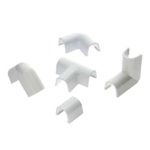 Lot De 10 Accessoires Pour Cache Fil Blanc Pour Moulure H09 X P9 Cm