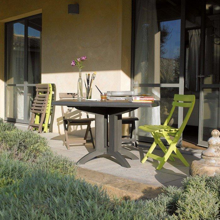 Salon de jardin Vega GROSFILLEX taupe