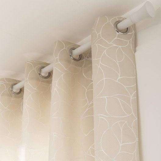Rideau tamisant bali blanc ivoire n 1 x cm inspire leroy merlin - Couleur blanc ivoire ...