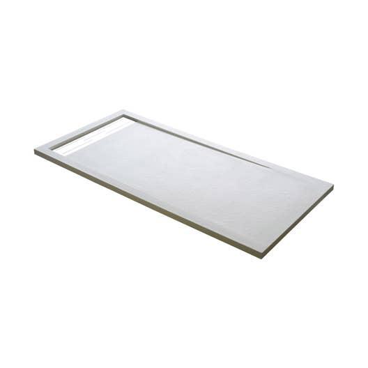 Receveur de douche extraplat rectangulaire L.160 x l.90 cm, résine ...