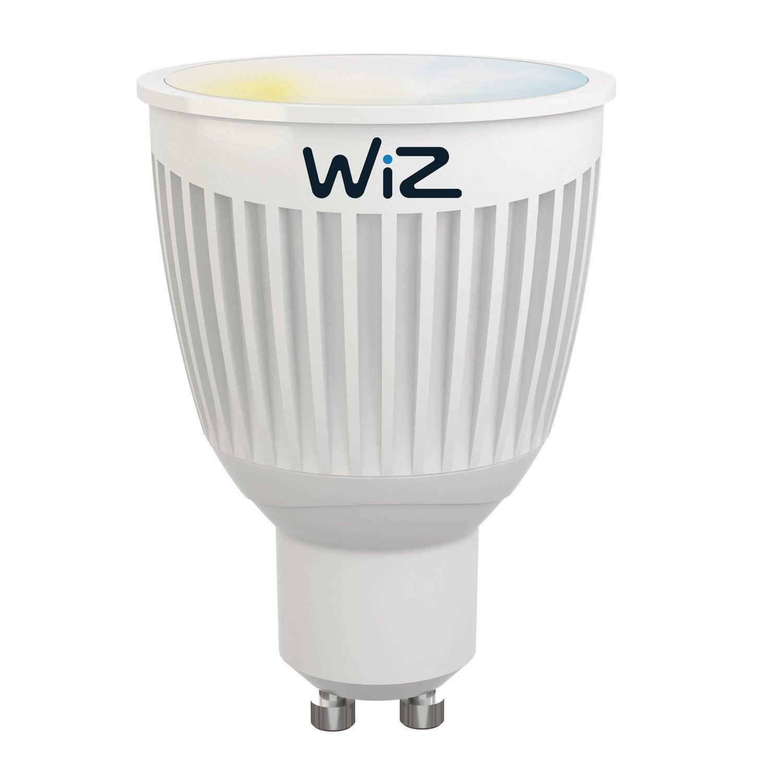 ampoule connect e wiz lumi re blanche gu10 6 5w 345 lumens luminaire connect. Black Bedroom Furniture Sets. Home Design Ideas