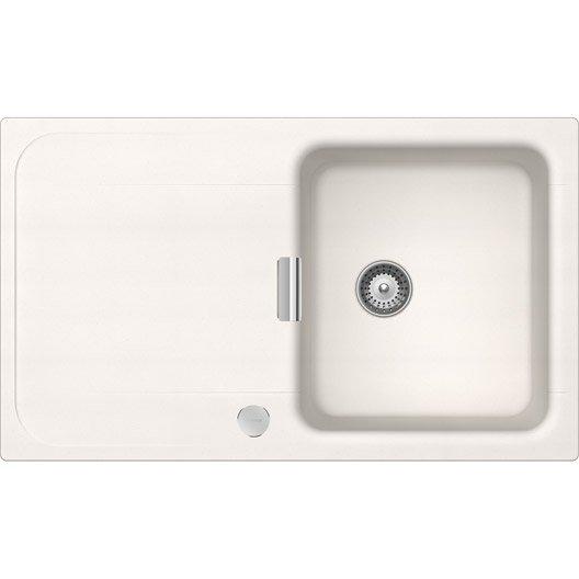 Evier encastrer quartz r sine blanc evc89011lm 106 for Evier a encastrer blanc