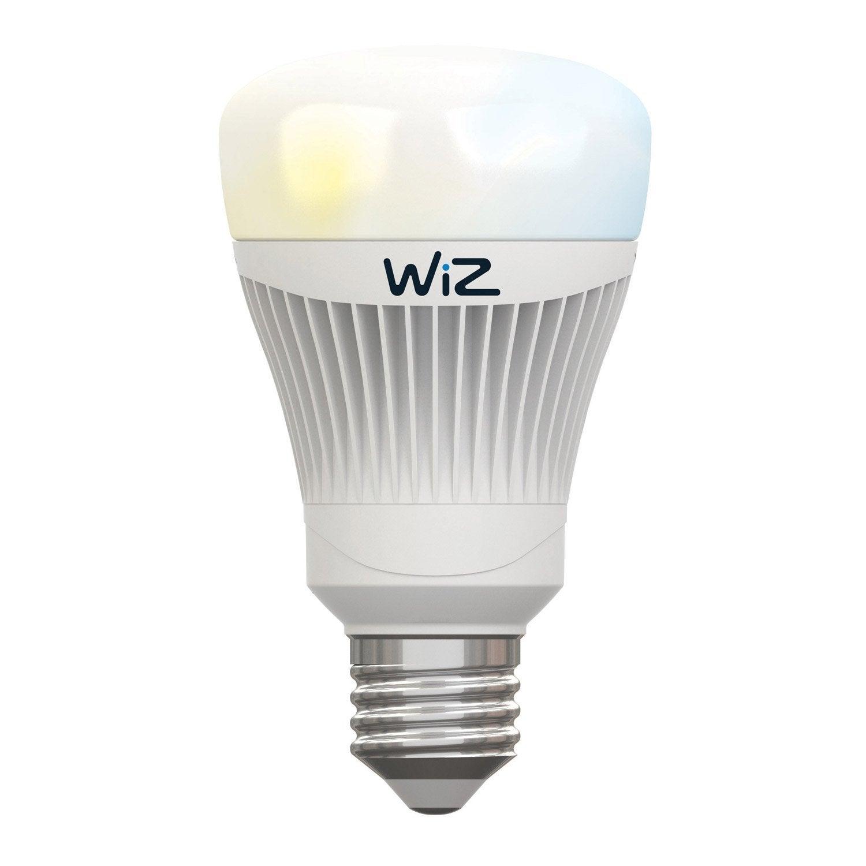 ampoule connect e wiz lumi re blanche e27 11 5w 806 lumens leroy merlin. Black Bedroom Furniture Sets. Home Design Ideas