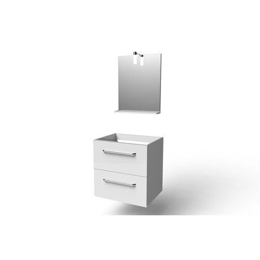 meuble sous vasque miroir x x cm blanc dado leroy merlin. Black Bedroom Furniture Sets. Home Design Ideas