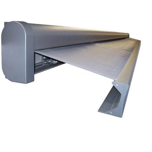 store banne motoris gold xxl coffre int gral 6 x 4 m p128 zinc gris zingu leroy merlin. Black Bedroom Furniture Sets. Home Design Ideas
