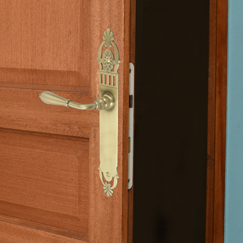 poign e de porte mansart sans trou laiton 195 mm leroy merlin. Black Bedroom Furniture Sets. Home Design Ideas