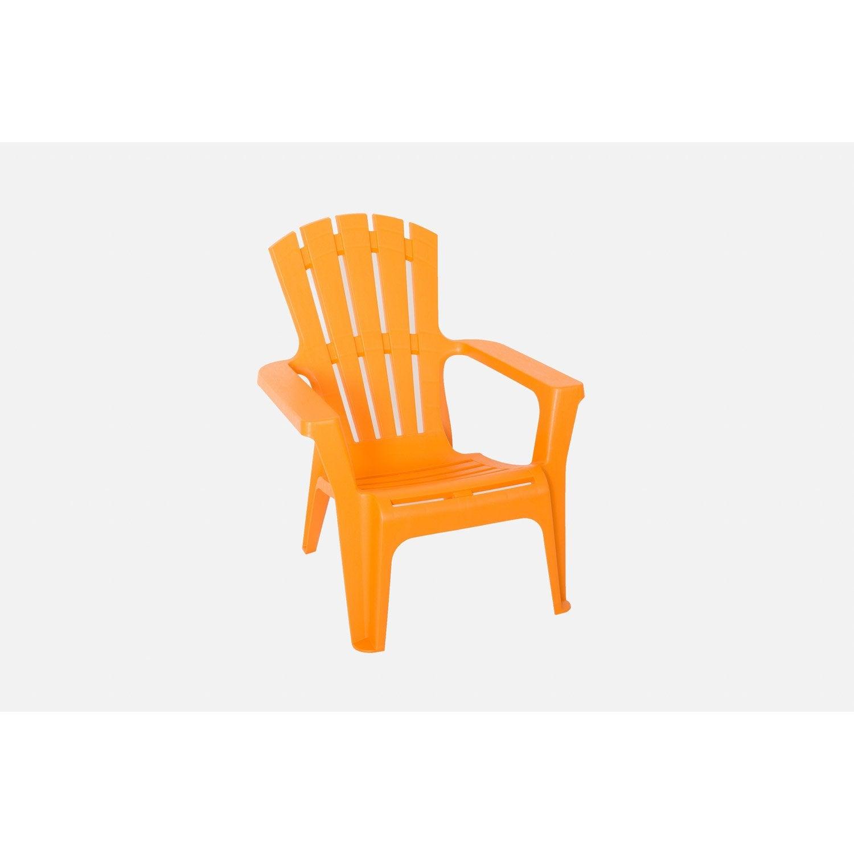 Fauteuil bas en résine Adirondack orange | Leroy Merlin