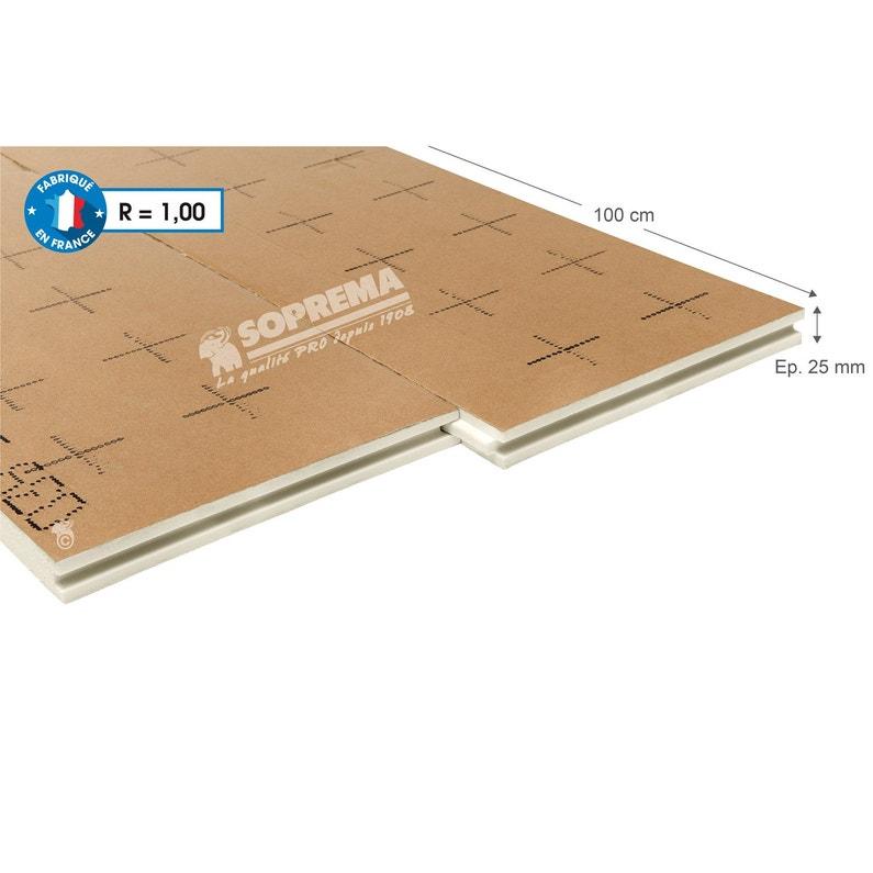 Panneau Pour Isolation Polyuréthane L 1 X L 1 2 X Ep 25 Mm Rr1 à R3