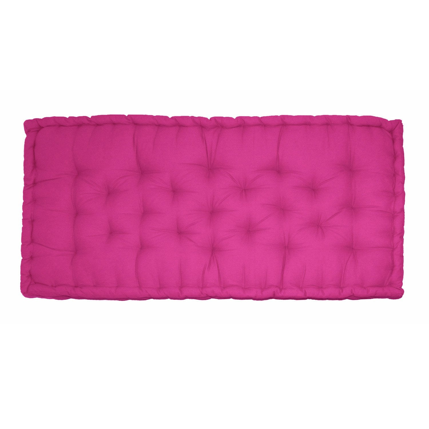 coussin matelas de sol fuchsia x cm leroy merlin. Black Bedroom Furniture Sets. Home Design Ideas