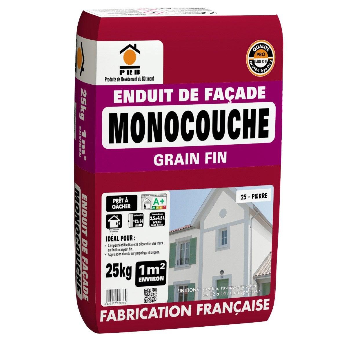 Pose Enduit De Facade Monocouche enduit monocouche ton pierre prb 25 kg