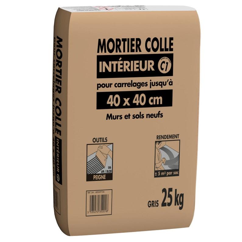 Mortier Colle Intérieur Gris Prb 25kg