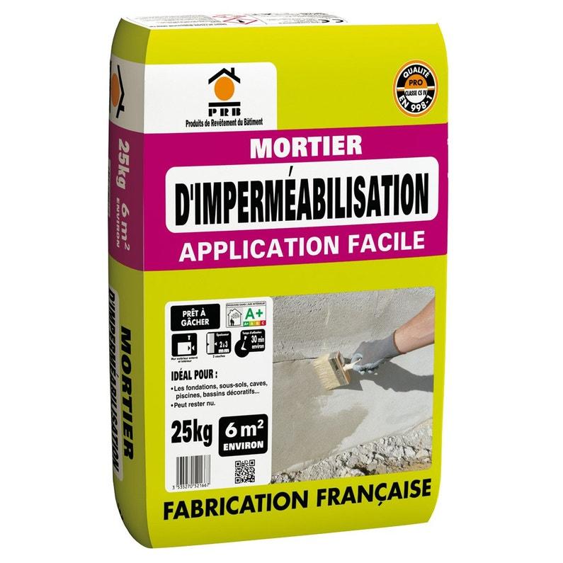 Mortier Dimperméabilisation Prb 25 Kg