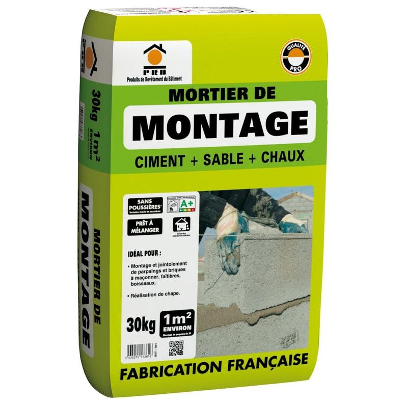 Mortier De Montage Lmb Gris Prb 30 Kg