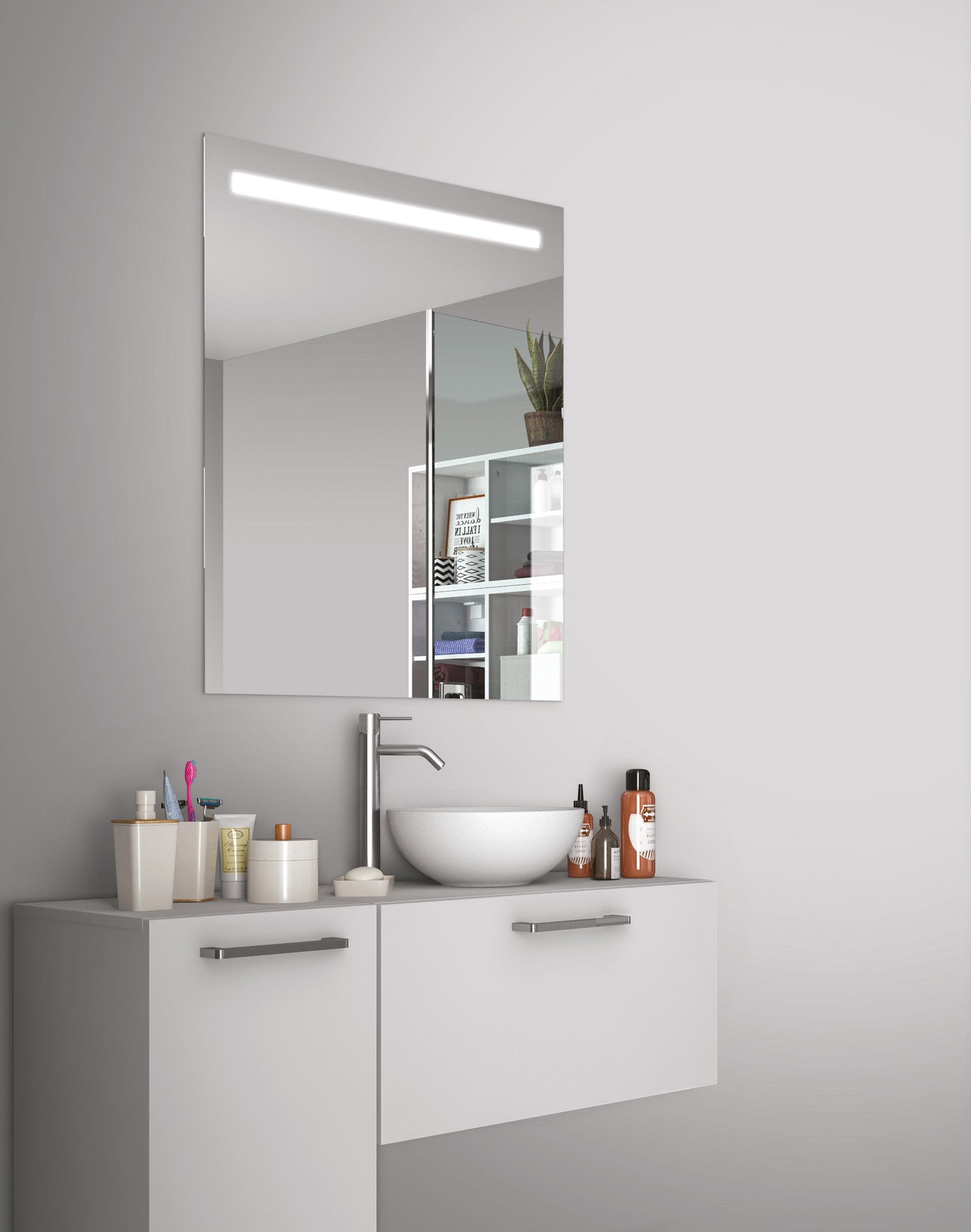 Miroir lumineux avec éclairage intégré, l.60 x H.70 cm Essential