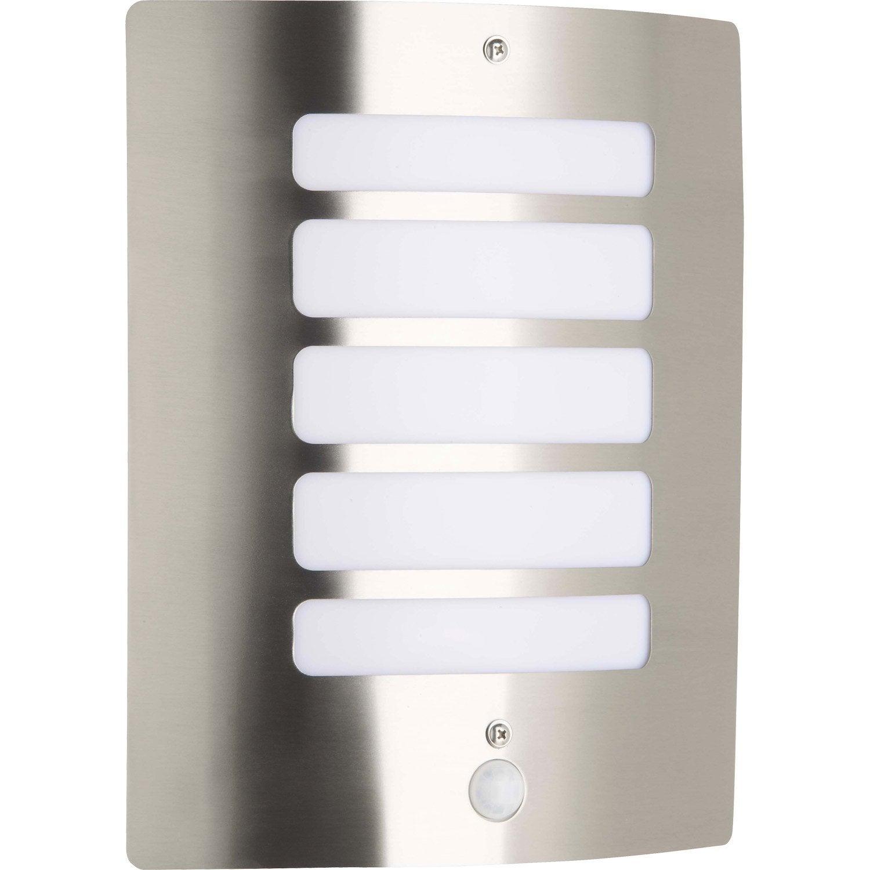 Lumiere Exterieur Detecteur applique à détection extérieure todd e27 60 w, inox brilliant