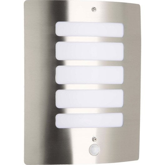 Applique d tection ext rieure todd e27 60 w inox for Luminaire exterieur leroy merlin