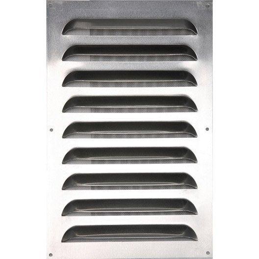 grille d 39 a ration aluminium naturel x cm leroy merlin. Black Bedroom Furniture Sets. Home Design Ideas