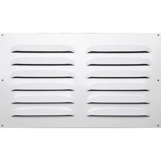 grille d 39 a ration visser aluminium laqu 50x30cm leroy merlin. Black Bedroom Furniture Sets. Home Design Ideas