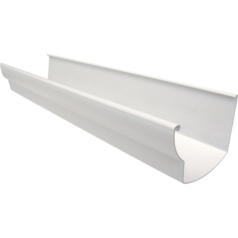 goutti re profil ovo de pvc girpi d cm blanche l 4 m. Black Bedroom Furniture Sets. Home Design Ideas