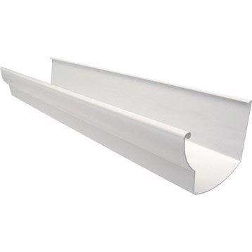 Gouttière profil ovoïde PVC GIRPI dév.25 cm blanche L.4 m