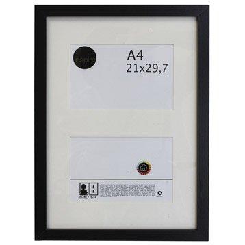 Cadre bois INSPIRE Lario, 21 x 29.7 cm, noir noir n°0