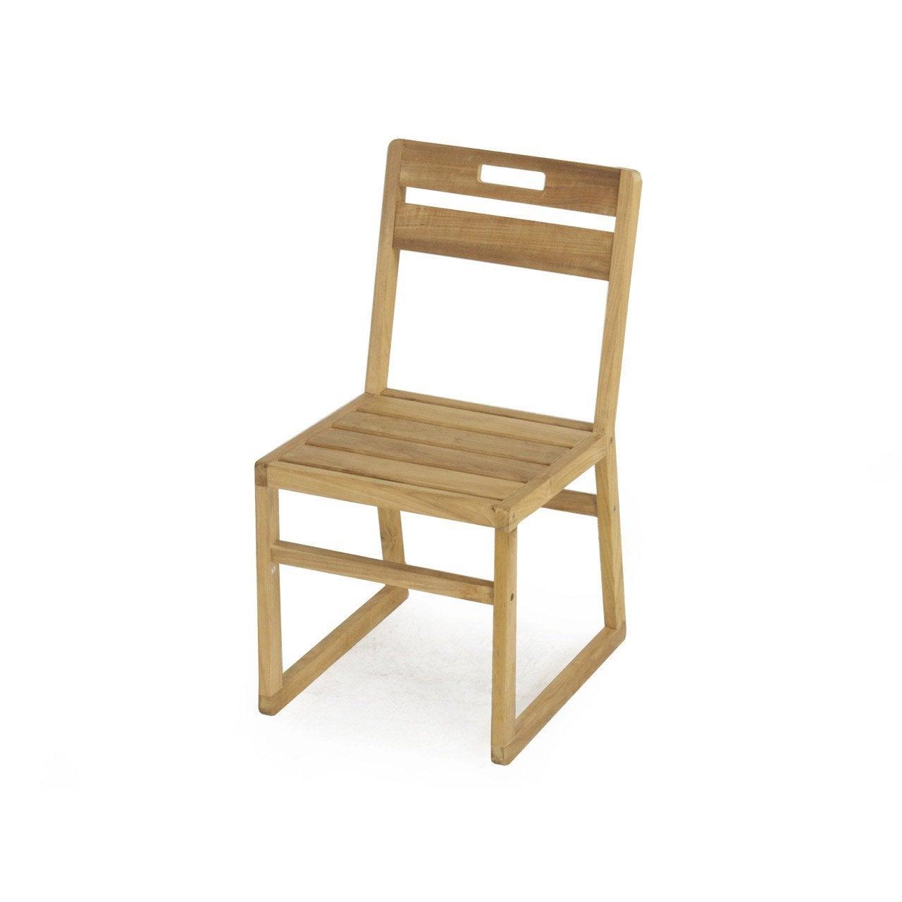 Chaise de jardin en bois resort naturel leroy merlin - Chaise de jardin en bois ...