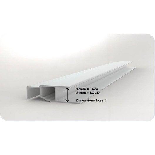 profil multifonction pvc 60 x 21 freefoam blanc 9003 3 m | leroy