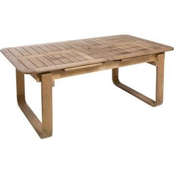 Table de jardin NATERIAL Resort rectangulaire naturel 6/8 personnes