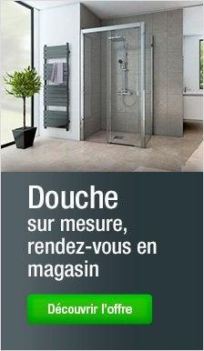 Paroi et porte de douche leroy merlin - Douche sur mesure castorama ...