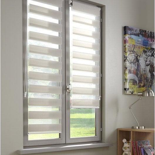 Store enrouleur jour nuit polyester inspire gris gris n 4 77x190 cm leroy - Baie vitree leroy merlin prix ...