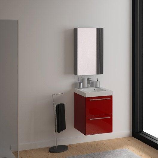 meuble vasque x x cm rouge sensea remix leroy merlin. Black Bedroom Furniture Sets. Home Design Ideas