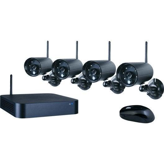 Kit de vidéosurveillance connecté HD interieure / extérieure SMARTWARES Wdvr740s