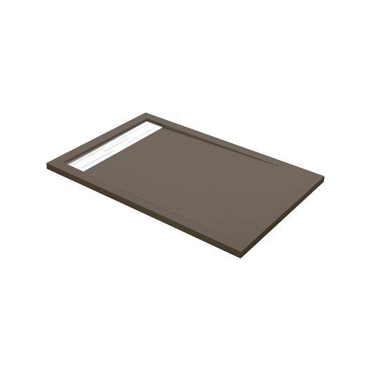 receveur de douche rectangulaire x cm r sine marron urban leroy merlin. Black Bedroom Furniture Sets. Home Design Ideas