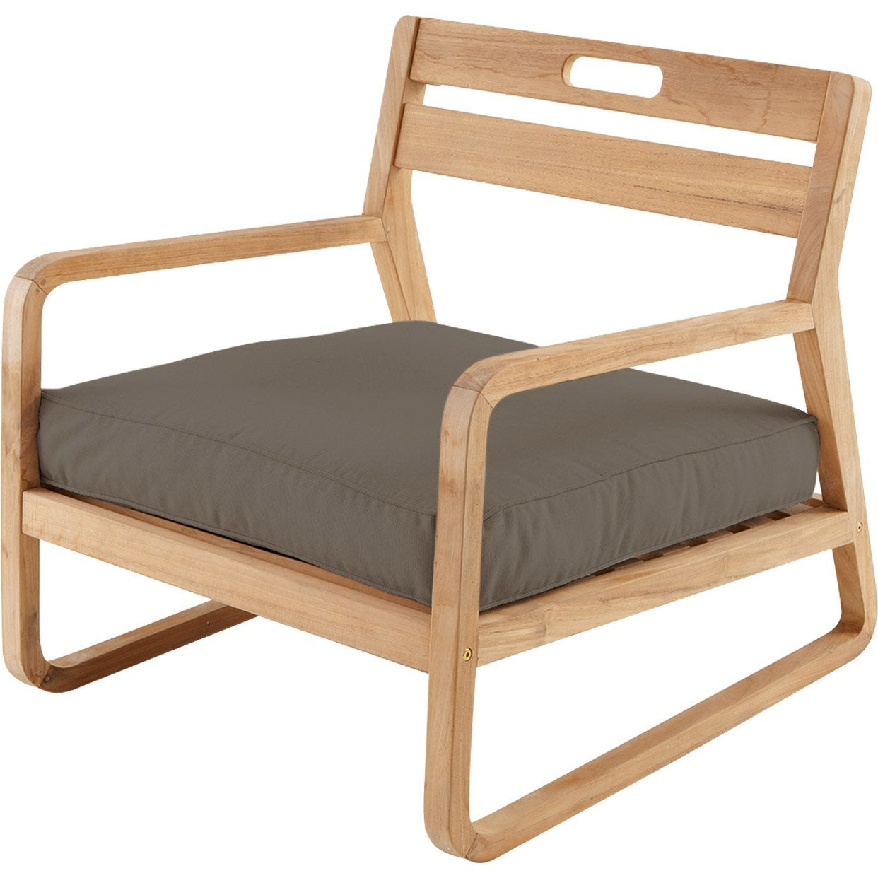 Chaise basse de jardin en bois resort naturel leroy merlin - Chaise basse de salon ...