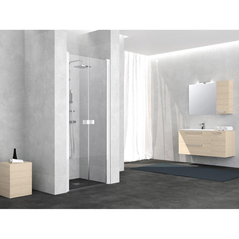 porte de douche battante 80 cm transparent neo leroy. Black Bedroom Furniture Sets. Home Design Ideas