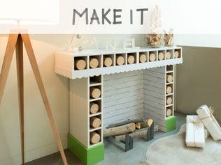 DIY : Créer une fausse cheminée pour Noël