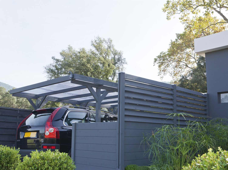 Abri garage rangement et tendoir leroy merlin - Garage exterieur metal ...