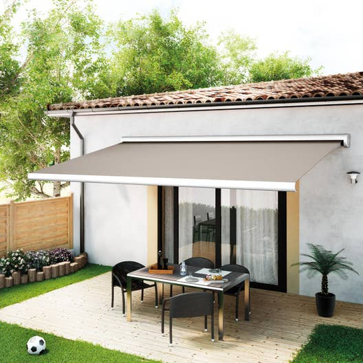 store banne motoris palma coffre int gral 5 x 3 m t130. Black Bedroom Furniture Sets. Home Design Ideas
