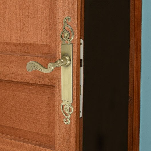 poign e de porte bayeux sans trou laiton 195 mm leroy merlin. Black Bedroom Furniture Sets. Home Design Ideas