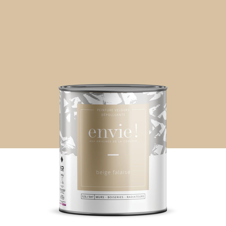 Peinture dépolluante mur, boiserie, radiateur ENVIE beige falaise velours 0.5 l