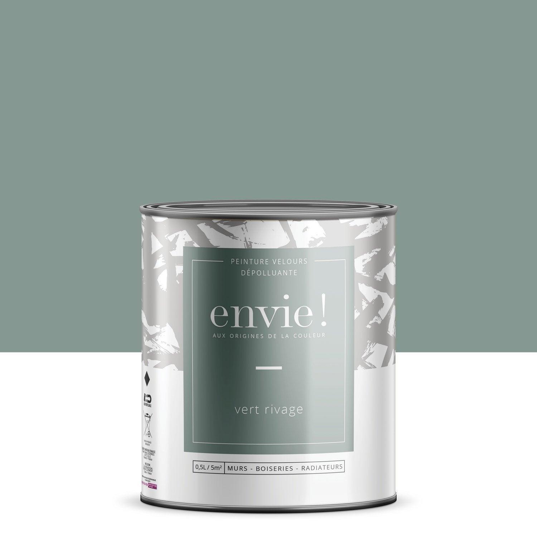 Peinture mur, boiserie, radiateur Multisupports ENVIE, vert rivage, 0.5 l, velou