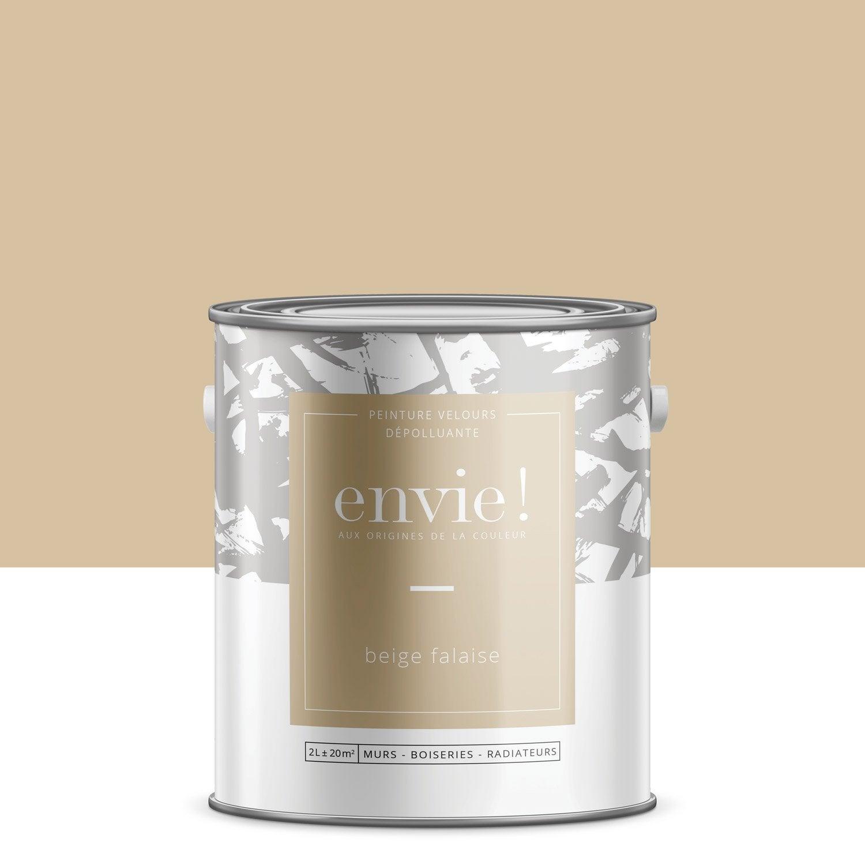 Peinture mur, boiserie, radiateur Multisupports ENVIE, beige falaise, 2 l, velou