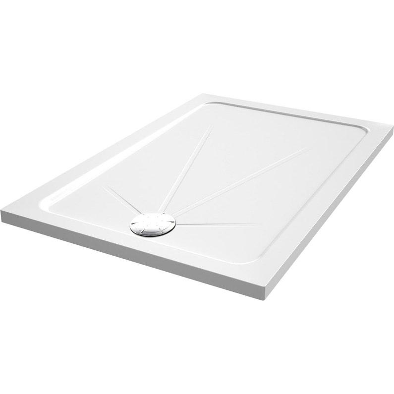 Receveur De Douche Rectangulaire L 140 X L 90 Cm Acrylique Blanc Opus