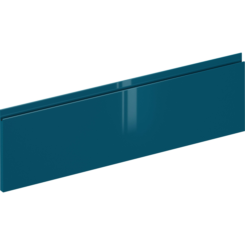 Façade de tiroir de cuisine Osaka bleu paon, DELINIA ID H.25.3 x l.119.7 cm