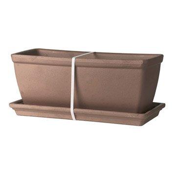jardini re pot de fleurs jardini re poterie d corative leroy merlin. Black Bedroom Furniture Sets. Home Design Ideas