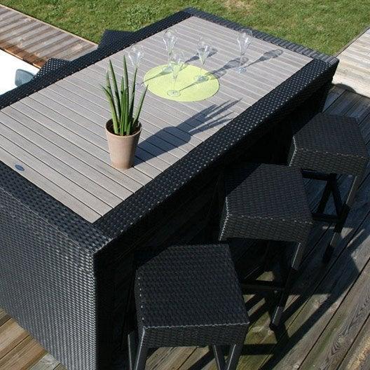 salon de jardin en r sine cuba gris leroy merlin. Black Bedroom Furniture Sets. Home Design Ideas